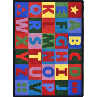 Joy Carpets Kid Essentials Oversize Alphabet Kids Rug