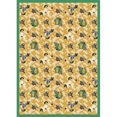 Nature Gold Flower Gardens Novelty Rug