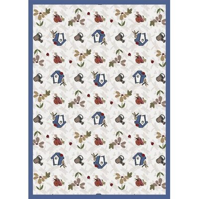 Joy Carpets Nature Beige Flower Gardens Novelty Rug