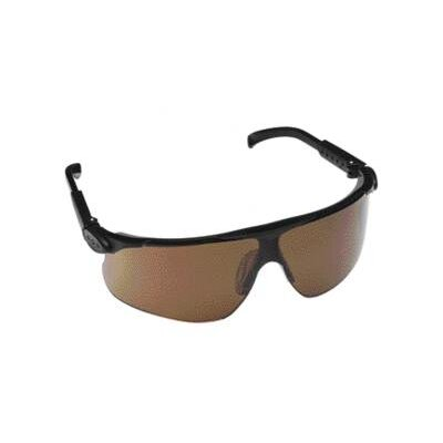 Aearo Technologies Safety Glasses With Black Frame With Adjustable Gray Temple Undermold And Bronze Lens