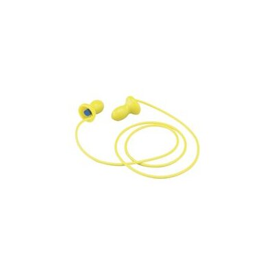 Aearo Technologies Use E-A-R® EZ Ins Foam Corded Earplugs 1 Pair Per Poly Bag, , 100 Pair Per Box)