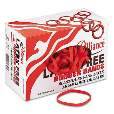 Alliance Rubber Latex-Free Orange Rubber Bands, Size 64, 3-1/2 X 1/4, 380 Bands/1Lb Box