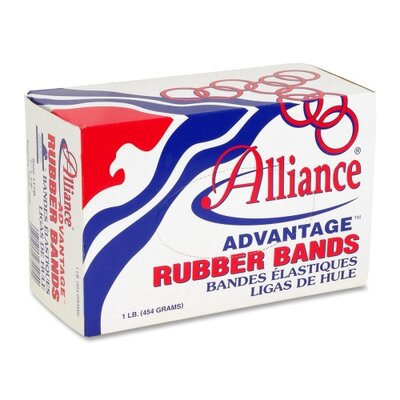 "Alliance Rubber Rubber Bands, Size 33, 1 lb., 3-1/2""x1/8"", Natural"