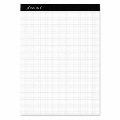 AMPAD Corporation Evidence Quad Dual-Pad, Quadrille Rule, Letter, 100-Sheet Pad