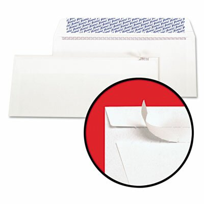 AMPAD Corporation Gold Fibre Fastrip Security Envelope, Self-Adhesive, #10, 100/Box