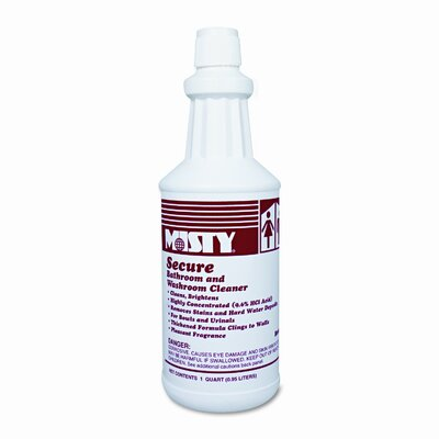 AmRep Misty Secure Hydrochloric Acid Bowl Cleaner, Mint Scent, 32 Oz. Bottle, 12/Carton