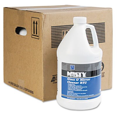 AmRep Misty Glass & Mirror Cleaner with Ammonia, 1 Gal. Bottle, 4/Carton