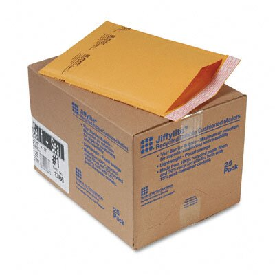 Sealed Air Corporation Jiffylite Self-Seal Mailer, Side Seam, #1, Golden Brown, 25/carton