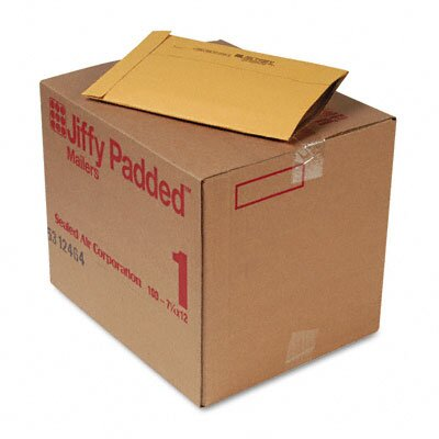 Sealed Air Corporation Jiffy Padded Mailer, Side Seam, #1, 100/Carton