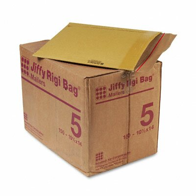 Sealed Air Corporation Jiffy Rigi Bag Mailer, Side Seam, #5, 150/Carton