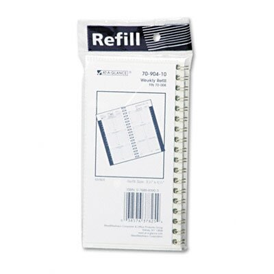At-A-Glance Weekly Appointment Book Refill, Hourly Ruled, 3-1/4 x 6-1/4, 2013
