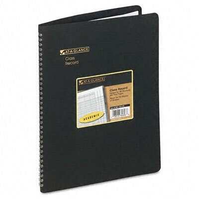 At-A-Glance Undated Class Record Book 10-7/8 x 8-1/4, Black