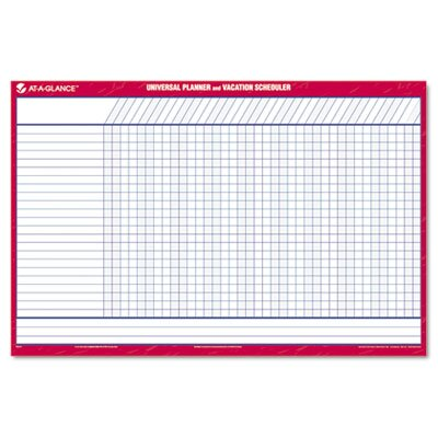 At-A-Glance Reversible/Erasable 12-Month Vacation Planner, 36 x 24, White