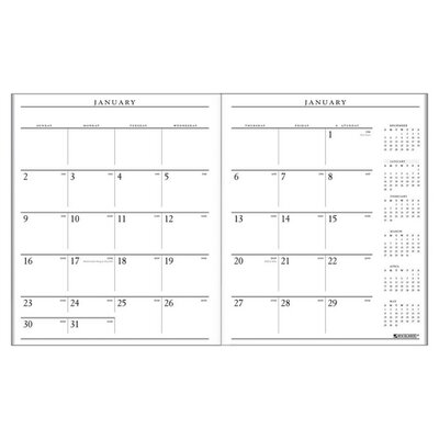 "At-A-Glance Monthly Refill,for 70-290-05 Exec Planner, 2 Pages per Month, 9""x11"", White, 2013"
