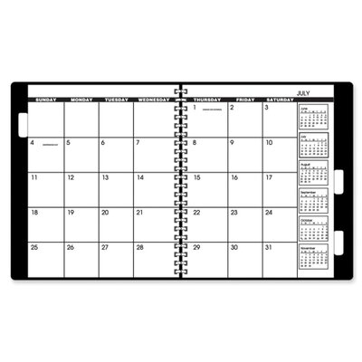 "At-A-Glance Yearly Refill Calendar, 2016, 2PPM, 22HP, 9""x11"", White/Cream, 2013"