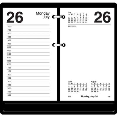 "At-A-Glance Loose-leaf Desk Calendar Refill , 12 Months Jan/Dec, 3-1/2""x6"", WE, 2013"