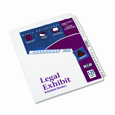 Avery Consumer Products Avery-Style Legal Side Tab Divider (26 Tabs, 1 Set/Box)