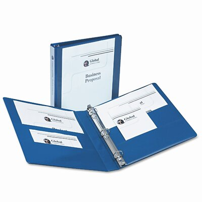 "Avery Consumer Products Durable Vinyl View Binder, 11 x 8-1/2, 1"" Capacity, Blue"
