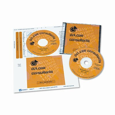 Avery Consumer Products CD/DVD Inkjet Labels/Inserts