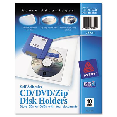 Avery Consumer Products Self-Adhesive Media Pockets, 10/Pack
