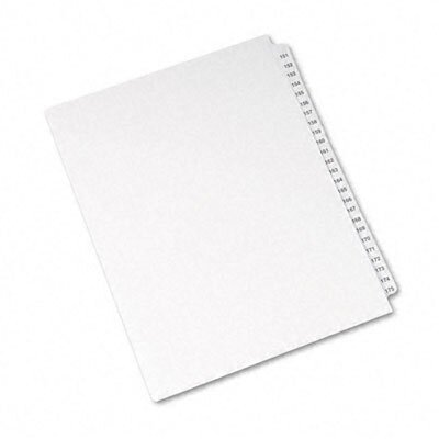 Avery Consumer Products Avery-Style Legal Side Tab Divider, Title: 151-175, Letter, White, One Set