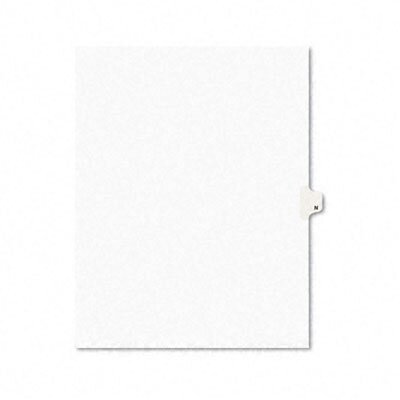 Avery Consumer Products Legal Side Tab Dividers, One-Tab, Title N, Letter, 25/Pack