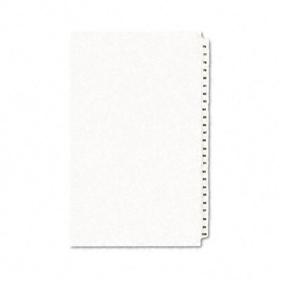 Avery Consumer Products Avery-Style Legal Side Tab Divider, Title: 76-100, 14 x 8 1/2, White, One Set                                                