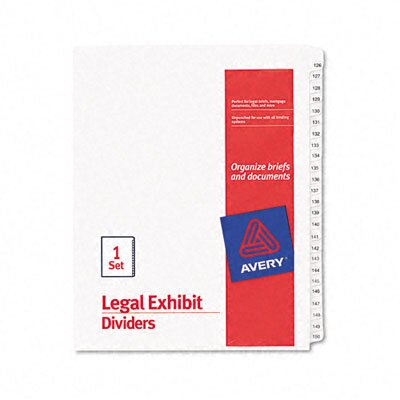 Avery Consumer Products Allstate-Style Legal Size Tab Dividers, 25-Tab, 126-150 Tab Title (Set of 25)