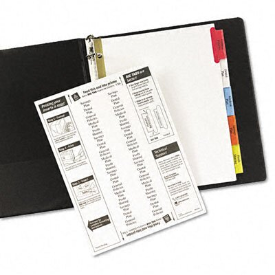 Avery Consumer Products Worksaver Big Tab Dividers, Multicolor Tabs, Five-Tab, Letter, White                                                         
