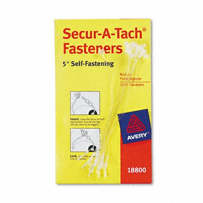 "Avery Consumer Products Secur-A-Tach Tag Fasteners, 5"" Long (1000/Box)"