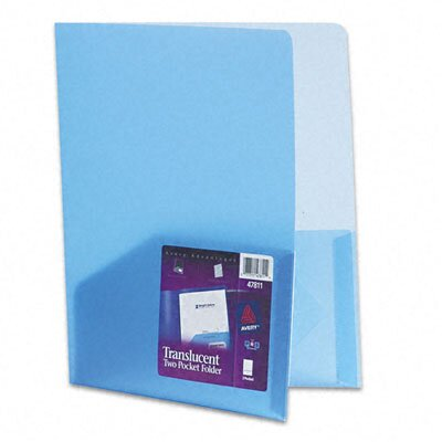 Avery Consumer Products Polypropylene Pocket Portfolio, Translucent Blue, 24-Pack