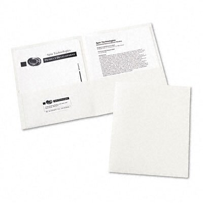 Avery Consumer Products Two-Pocket Embossed Paper Portfolio, 30-Sheet Capacity, White, 25 per Box