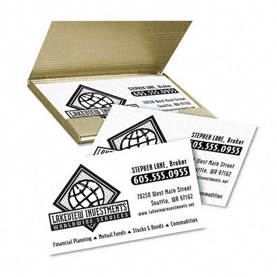 Avery Consumer Products Clean Edge Laser Business Cards, 2 X 3 1/2, 10/Sheet, 2000/Box
