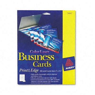 Avery Consumer Products Laser Business Cards, 160/Pack
