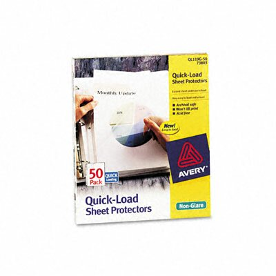Avery Consumer Products Quick Top and Side Loading Sheet Protectors, Letter, 50/Box
