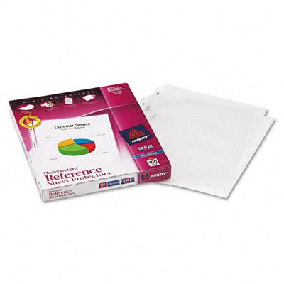 Avery Consumer Products Top-Load Poly Sheet Protectors, Heavy Gauge, Letter, Non-Glare, 100/box