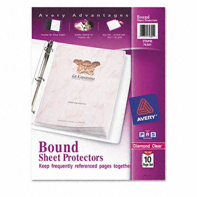Avery Consumer Products Top-Load Bound Poly Sheet Protector Sets, Standard Gauge, Letter, 10 Pages