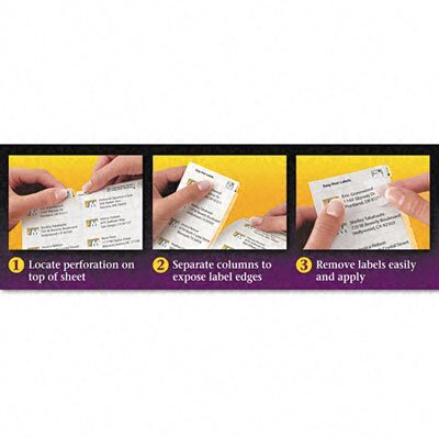 Avery Consumer Products Easy Peel Inkjet Mailing Labels (750/Pack)