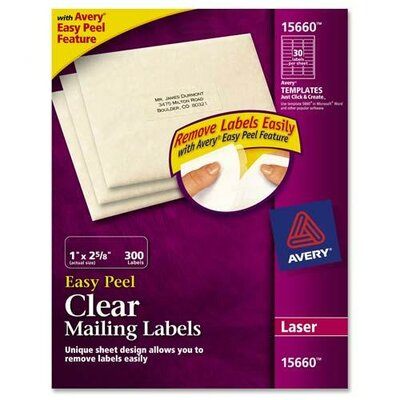 Avery Consumer Products Easy Peel Laser Mailing Labels, 300/Pack