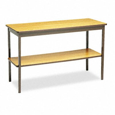 BARRICKS MANUFACTURING CO                          Rectangular Utility Table with Bottom Shelf, 48W X 18D X 30H