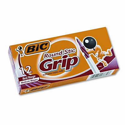 Bic Corporation Medium Ultra Round Stic Grip Ballpoint Stick Pen, 12/Pack