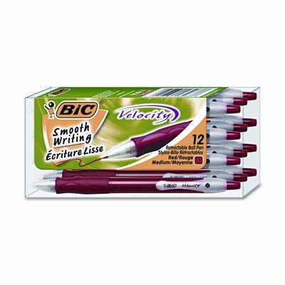 Bic Corporation Medium Velocity Ballpoint Retractable Pen, 12/Pack