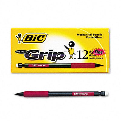 Bic Corporation 0.5 Mm Hb #2 Matic Grip Mechanical Pencil (Dozen)