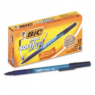 Bic Corporation Medium Soft Feel Ballpoint Stick Pen, 12/Pack