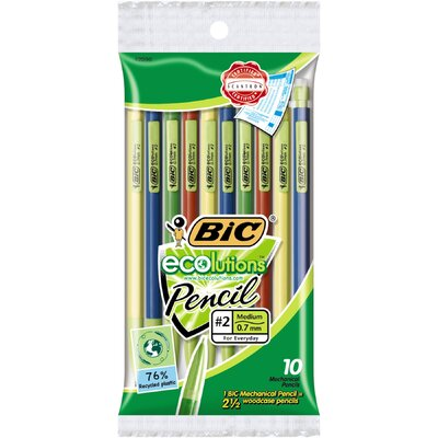 Bic Corporation 10 Count Assorted Colors Ecolution Mechanical Pencil