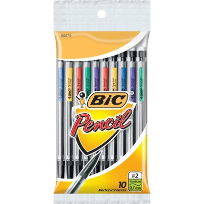 Bic Corporation 10 Count 0.7mm Primary Colored Mechanical Pencil