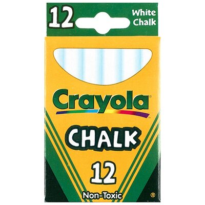 <strong>Crayola LLC</strong> 12 Sticks - Tuck Box White Chalk