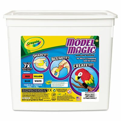 Crayola LLC Model Magic Modeling Compound, 8 Oz Each, 2Lbs