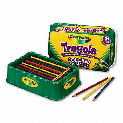 Crayola LLC 3.3 Mm Colored Wood Pencil Trayola (9 Assorted Colors, 54 Pencils/Set)