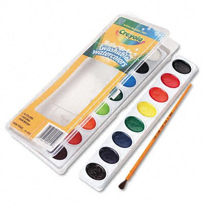 Crayola LLC Washable Watercolor Paint (16/Set)